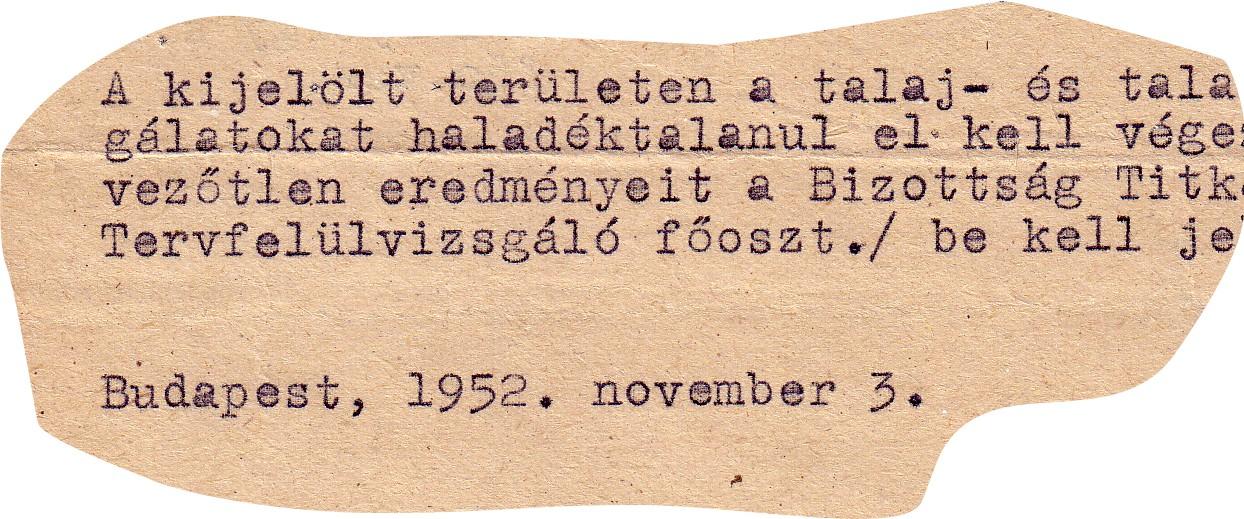 Gépelt szöveg - 1952